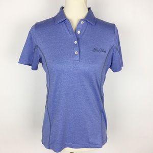 "PETER MILLAR ""Sea Island"" Blue E4 SS Polo Shirt"